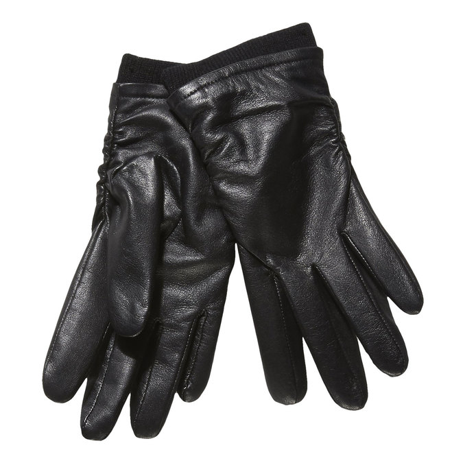 Ladies' leather gloves, black , 904-6107 - 13