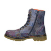 Leather ankle boots with flower motif bata, blue , 596-9609 - 26