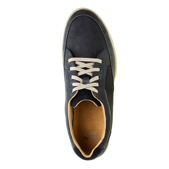 Men´s shoes made of brushed leather clarks, blue , 826-9006 - 19
