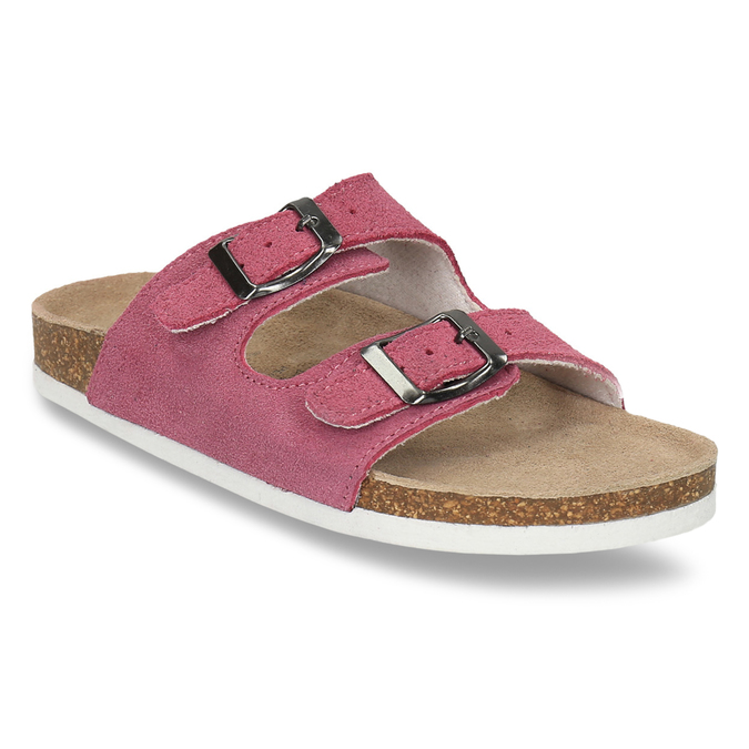 Children's pink slippers de-fonseca, pink , 373-5600 - 13
