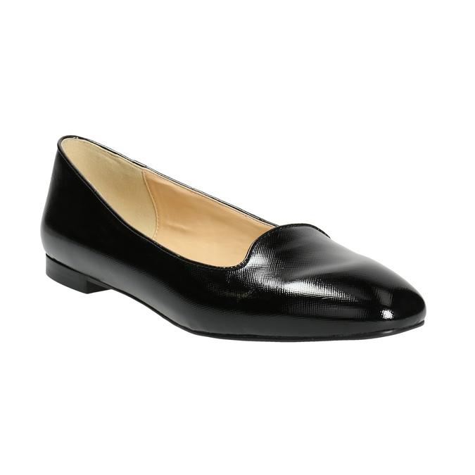 Ladies' leather ballerinas bata, black , 528-6630 - 13