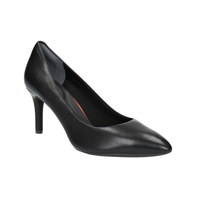 Black leather pumps rockport, black , 724-6110 - 13