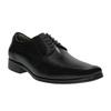 Black leather shoes bata, black , 824-6724 - 13