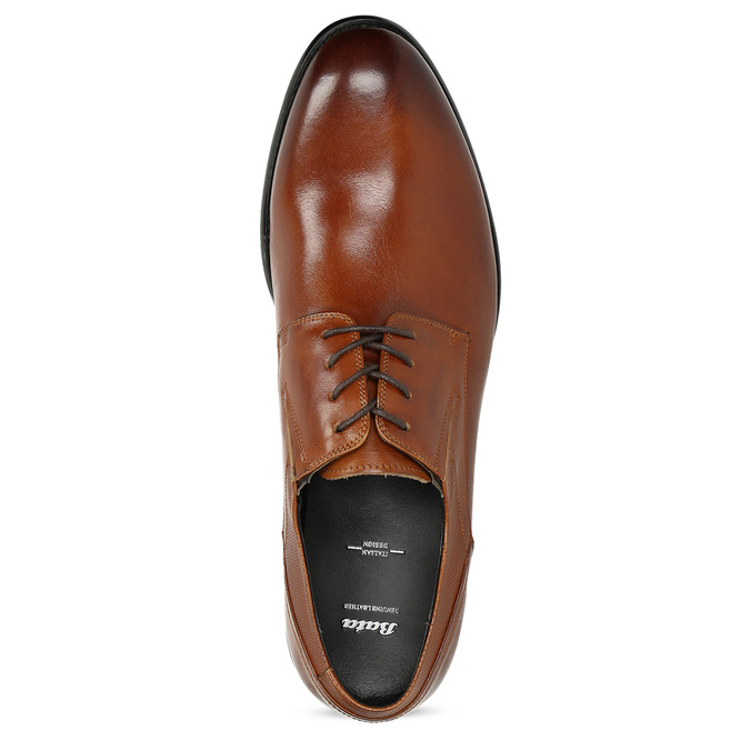 Men's leather shoes bata, brown , 824-4722 - 17