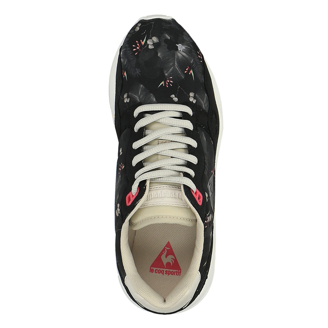 Ladies' sneakers with flower pattern le-coq-sportif, black , 509-6610 - 19