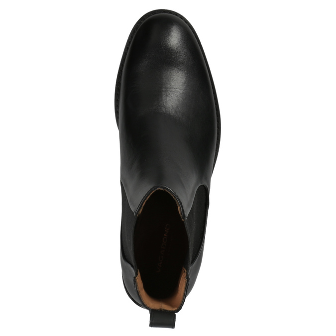 Black leather Chelsea Boots vagabond, black , 514-6008 - 19