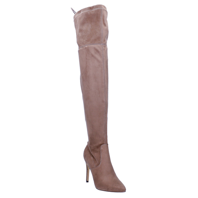 Ladies' over-knee high boots bata, brown , 799-3600 - 13