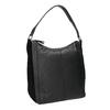 Hobo-style black leather handbag, black , 964-6254 - 13