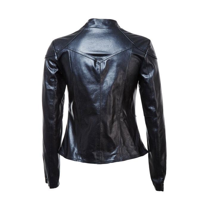 Ladies' leather jacket with zips bata, black , 974-6162 - 26
