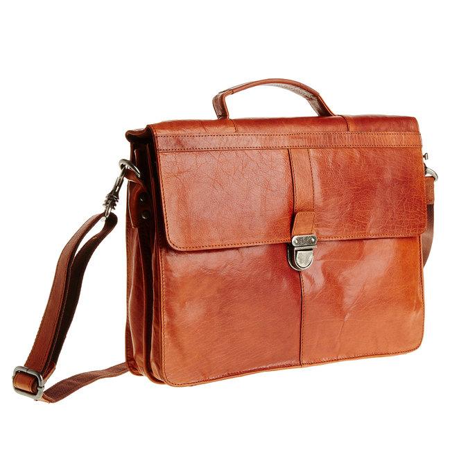 Leather briefcase bata, brown , 964-3138 - 13