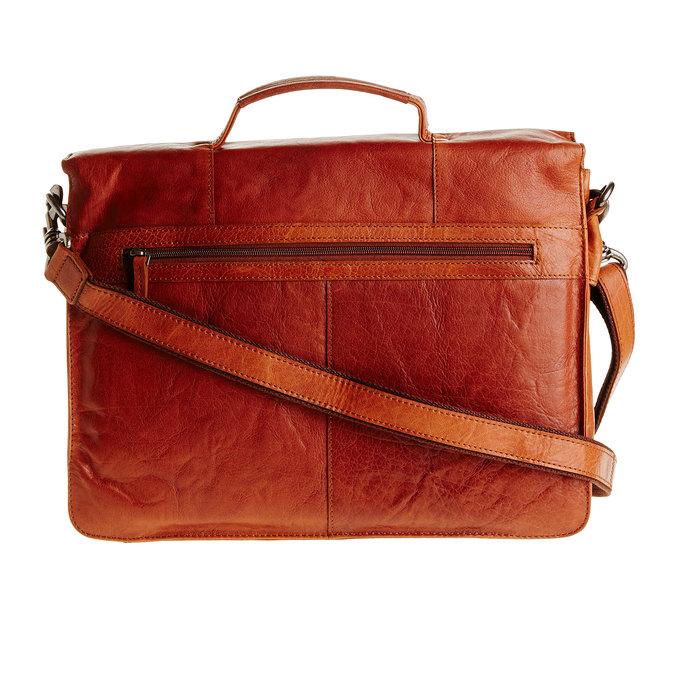 Leather briefcase bata, brown , 964-3138 - 26