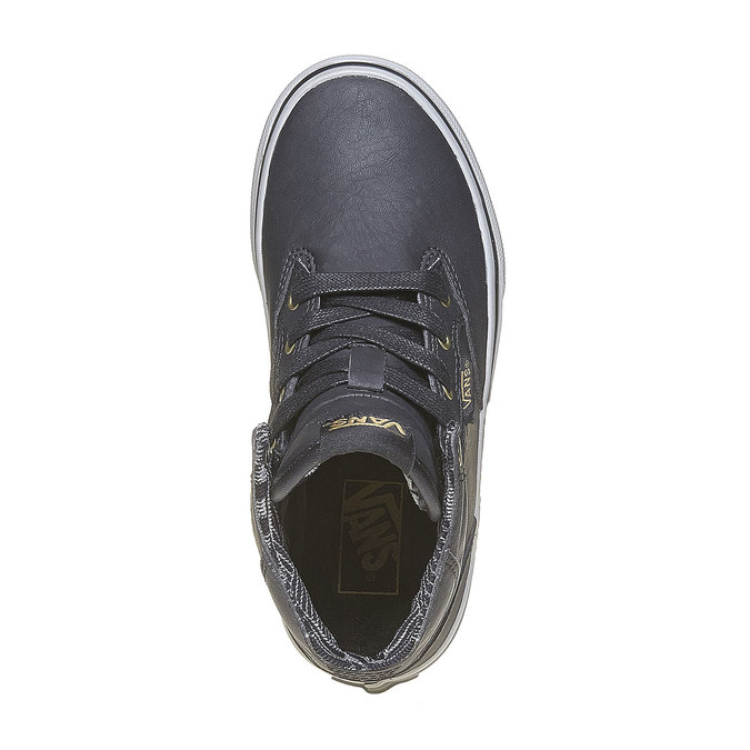 Children's ankle-cut sneakers vans, gray , 401-6310 - 19