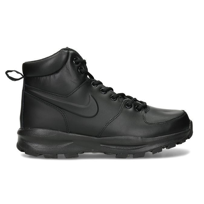Men's leather ankle boots nike, black , 806-6435 - 19