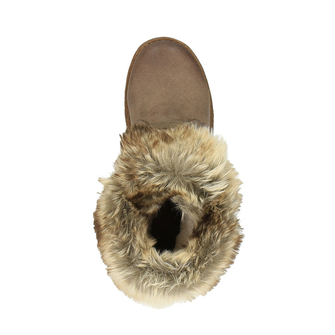 Ladies' winter boots with fur bata, brown , 591-3605 - 19