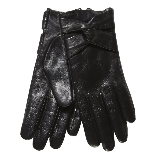 Ladies' leather gloves, black , 904-6109 - 13