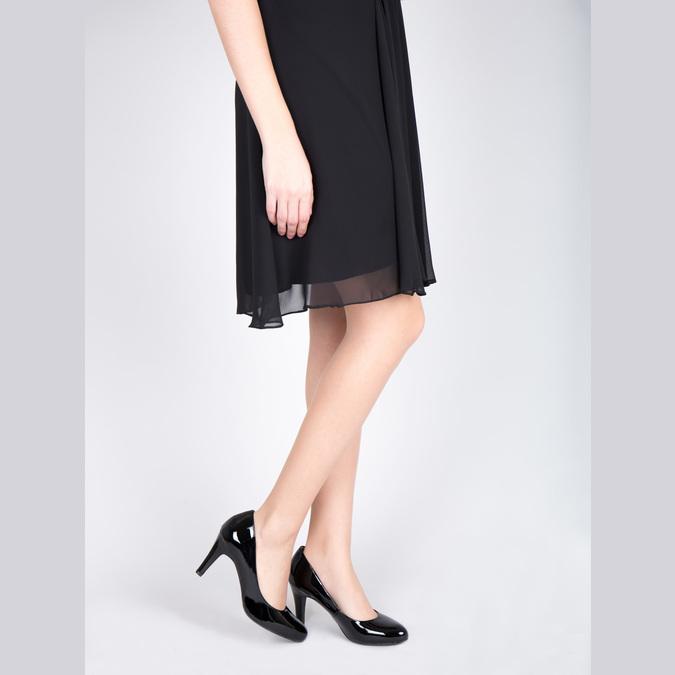 Ladies' leather pumps insolia, black , 728-6633 - 18