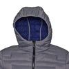 Hooded men's jacket bata, gray , 979-2627 - 16