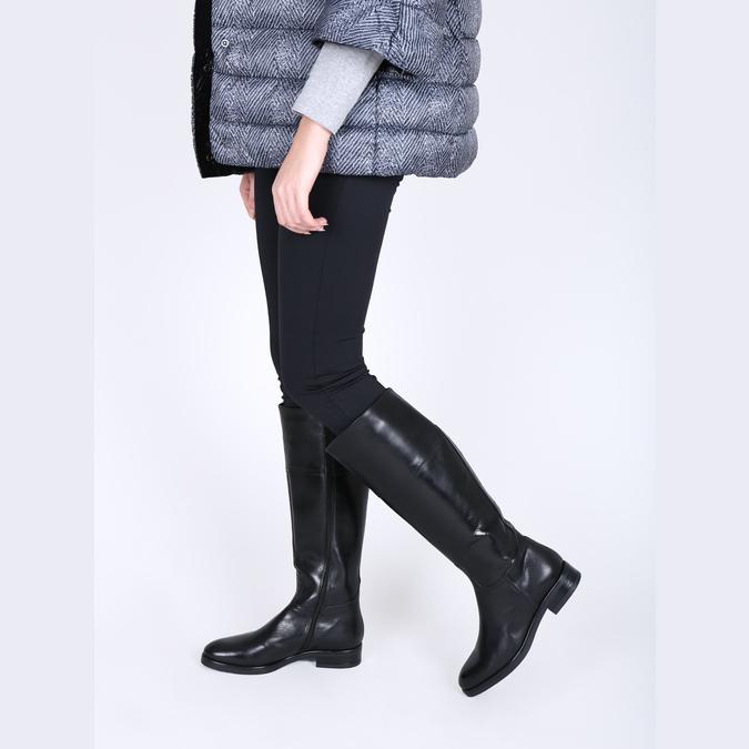 Ladies´ leather Cossacks bata, black , 594-6606 - 18