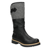 High boots with a distinctive sole bata, black , 591-6608 - 13