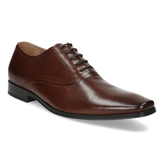 Brown leather Oxford shoes bata, brown , 826-3808 - 13