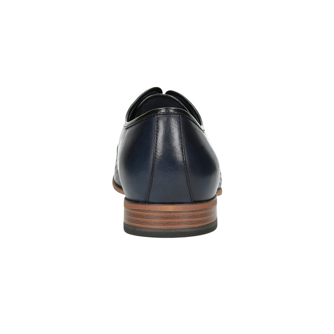 Patterned leather shoes bata, blue , 826-9813 - 17