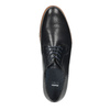Men's thick-soled leather shoes bata, blue , 826-9809 - 19