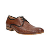 Patterned leather shoes bata, brown , 826-3813 - 13