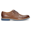 Leather shoes with a distinctive sole conhpol, brown , 824-3857 - 19