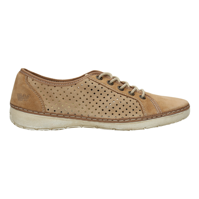 Leather sneakers weinbrenner, brown , 546-4238 - 15