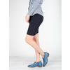 Leather high ankle boots with perforations bata, blue , 596-9647 - 18