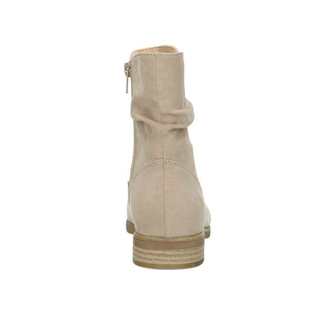 Ladies' high ankle boots bata, beige , 599-8614 - 17