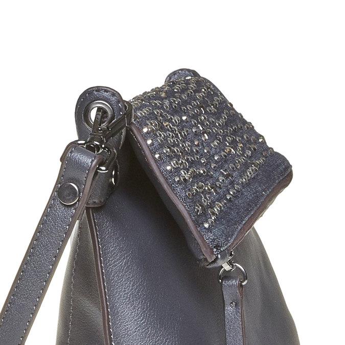 Ladies' crossbody handbag with stars bata, blue , 961-9302 - 17