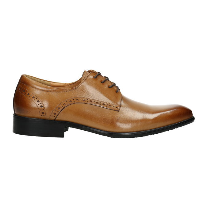 Men's Brogue leather shoes bata, brown , 826-3821 - 15