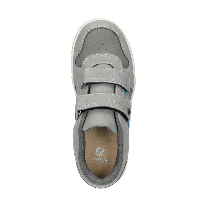 Children's sneakers with Velcro fasteners mini-b, gray , 411-2604 - 19