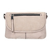 Pink crossbody with perforated flap bata, pink , 961-5709 - 26