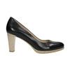Ladies´ leather pumps pillow-padding, black , 724-6641 - 15