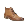 Leather ankle boots with perforations bata, brown , 596-4645 - 13