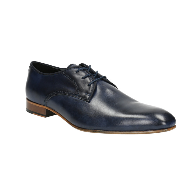 Men's blue leather shoes bata, blue , 826-9836 - 13