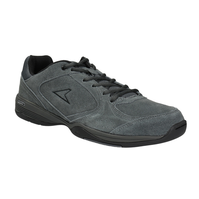 Men's leather sneakers power, gray , 803-2117 - 13