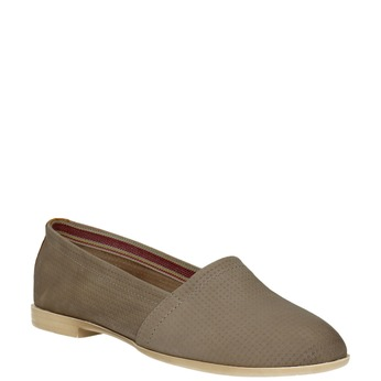Ladies´ leather Slip-ons bata, brown , 516-2602 - 13