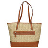 Shopper handbag with braided pattern gabor-bags, beige , 961-8073 - 19
