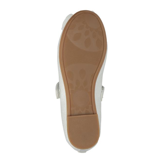 Children´s ballerina shoes with a ribbon mini-b, white , 321-1247 - 26