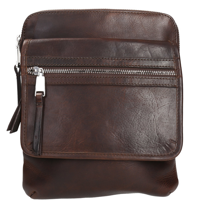 Leather crossbody bag bata, brown , 964-4237 - 19
