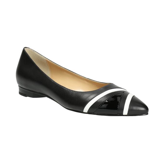 Ladies´ pointed ballerinas bata, black , 524-6602 - 13