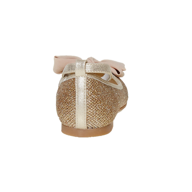 Girls' ballet pumps with bow mini-b, gold , 329-8241 - 17