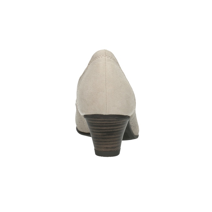 Leather pumps width H bata, gray , 623-2602 - 17