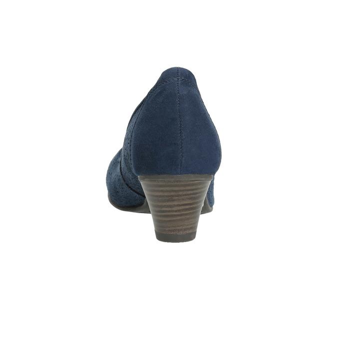 Leather pumps width H bata, blue , 623-9602 - 17