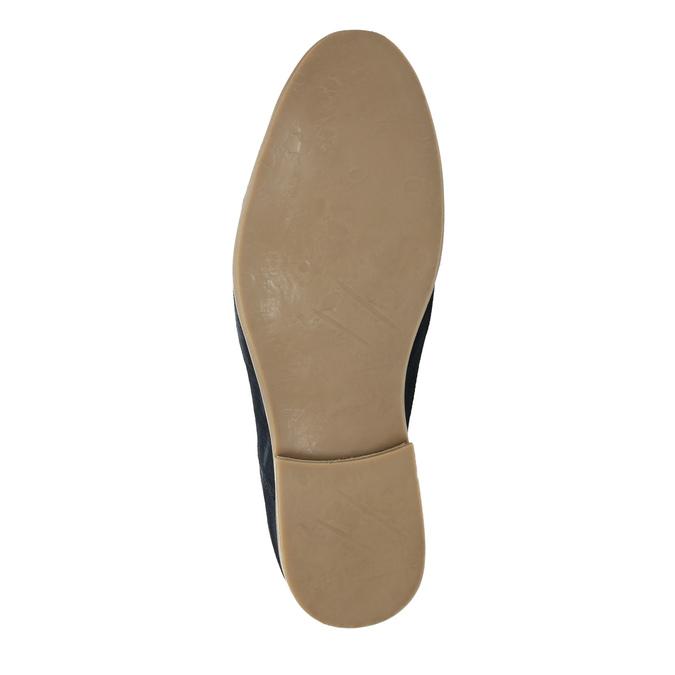 Shoes of brushed leather bata, blue , 823-9602 - 26