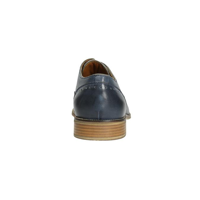 Blue leather shoes bata, blue , 826-9801 - 17