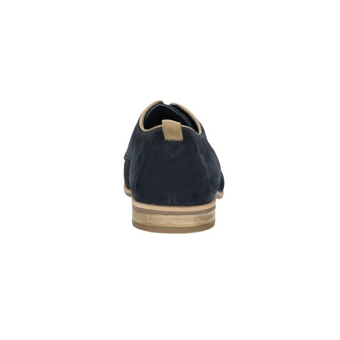 Shoes of brushed leather bata, blue , 823-9602 - 17